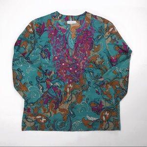 Charter Club Top Blouse Shirt size M
